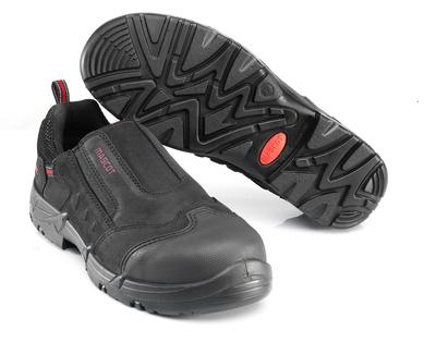 MASCOT® Katesh - czerń/czerwień* - Obuwie ochronne S1P z elastycznym ściągaczem
