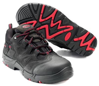 MASCOT® Kilimanjaro - czerń/czerwień - Obuwie ochronne S3 ze sznurowadłami