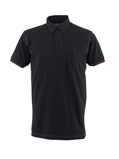 MASCOT® Kreta - czerń - Koszulka polo, nowoczesny krój, kieszeń na piersi