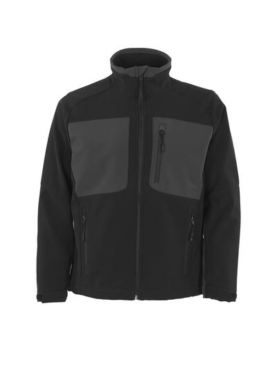 MASCOT® Lagos - czerń/ciemny antracyt - Kurtka softshell z polarem po wewnętrznej stronie, wodoodporna tkanina