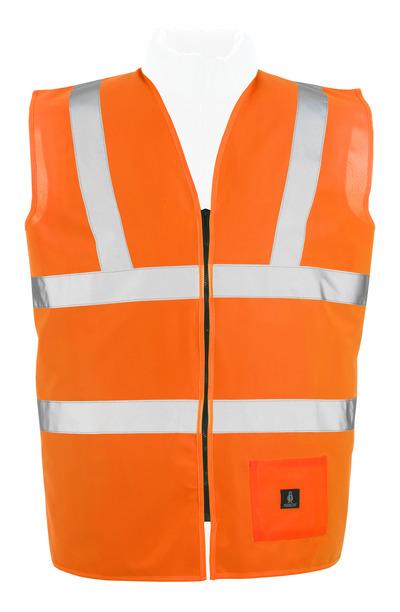 MASCOT® Lakewood - pomarańcz hi-vis* - Kamizelka ostrzegawcza z zamkiem błyskawicznym, klasa 2