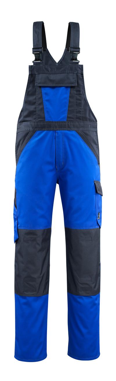 MASCOT® Leeton - niebieski/ciemny granat - Ogrodniczki z kieszeniami na kolanach, niska waga