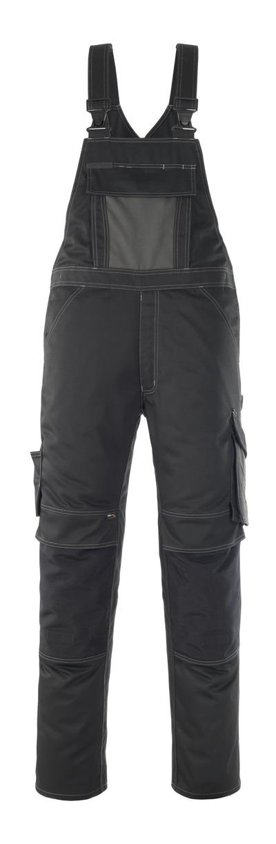 MASCOT® Leipzig - czerń/ciemny antracyt - Spodnie Ogrodniczki