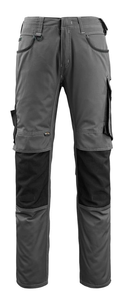 MASCOT® Lemberg - ciemny antracyt/czerń - Spodnie z kieszeniami CORDURA® na kolanach, bardzo niska waga