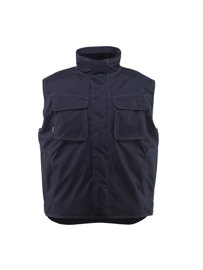 MASCOT® Lexington - ciemny granat - Kamizelka zimowa z futrzaną podpinką, wodoodporna tkanina