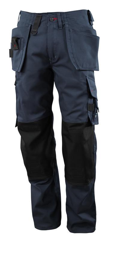 MASCOT® Lindos - ciemny granat - Spodnie z kieszeniami CORDURA® na kolanach i kieszeniami wiszącymi, niska waga