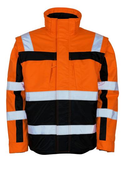 MASCOT® Loreto - pomarańcz hi-vis/granat - Kurtka zimowa z kurtka termalna wewnętrzną, wodoodporna tkanina, klasa 3
