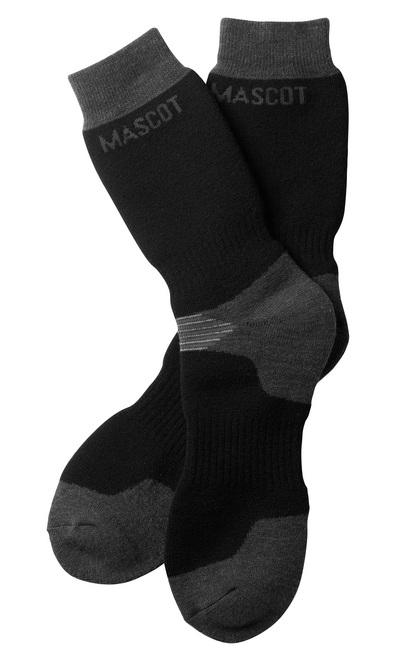 MASCOT® Lubango - czerń/ciemny antracyt - Skarpety, ekstra długi model, odprowadzający wilgoć