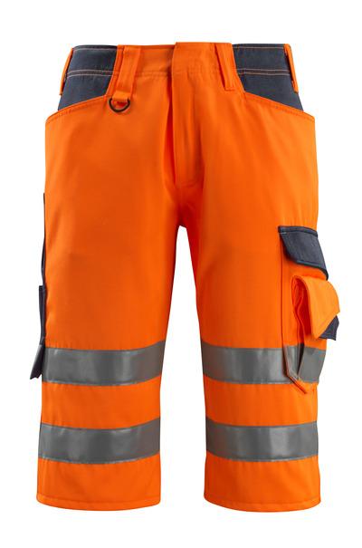 MASCOT® Luton - pomarańcz hi-vis/ciemny granat - Spodenki ¾, klasa 1