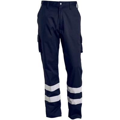 MACMICHAEL® MacMichael - ciemny granat - Spodnie z kieszeniami na udach, paski odblaskowe, niska waga