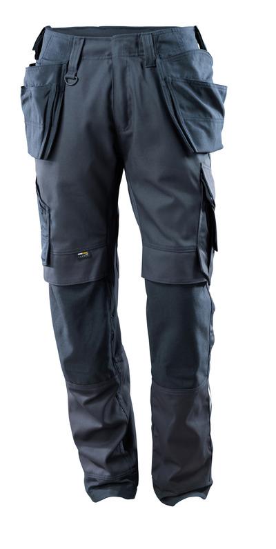 MASCOT® Madrid - ciemny granat - Spodnie z kieszeniami CORDURA® na kolanach i kieszeniami wiszącymi, panele streczowe, wysoka odporność na zużycie