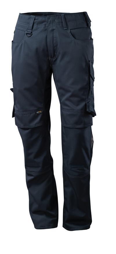 MASCOT® Mannheim - ciemny granat - Spodnie z kieszeniami CORDURA® na kolanach, niska waga
