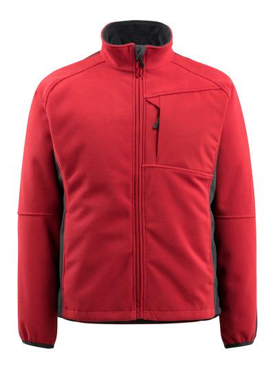 MASCOT® Marburg - czerwień/czerń - Kurtka polarowa z siatkową podszewką, wodoodporna tkanina