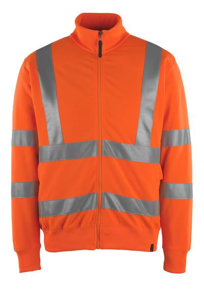 MASCOT® Maringa - pomarańcz hi-vis  - Bluza z zamkiem błyskawicznym, nowoczesny krój, klasa 3