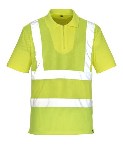 MASCOT® Melville - żółty hi-vis* - Koszulka polo z zamkiem błyskawicznym, klasyczny krój, klasa 2/2