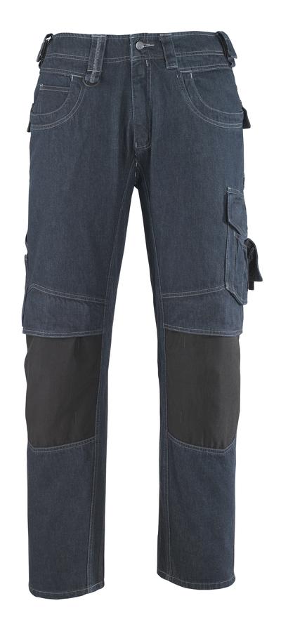 MASCOT® Milton - ciemnoniebieski* - Dżinsy z kieszeniami na kolanach