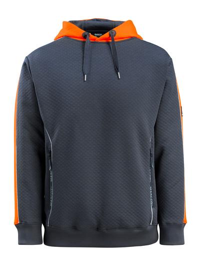 MASCOT® Motril - ciemny granat/pomarańcz hi-vis - Bluza z Kapturem