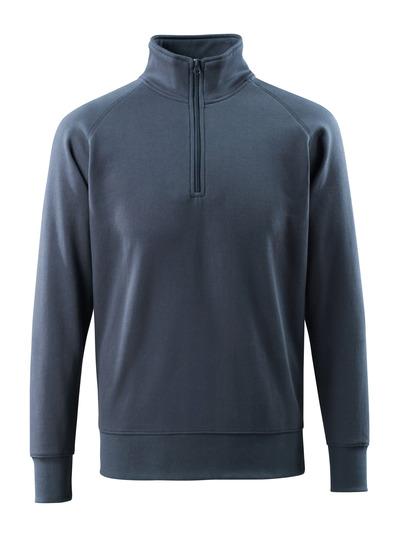 MASCOT® Nantes - ciemny granat - Bluza z krótkim zamkiem błyskawicznym, nowoczesny krój