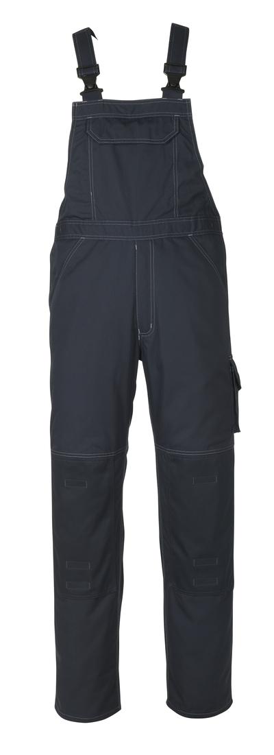 MASCOT® Newark - ciemny granat - Ogrodniczki z kieszeniami na kolanach, niska waga