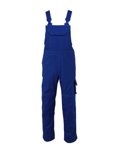 MASCOT® Omaha - niebieski - Ogrodniczki z kieszeniami na kolanach, wysoka odporność na zużycie