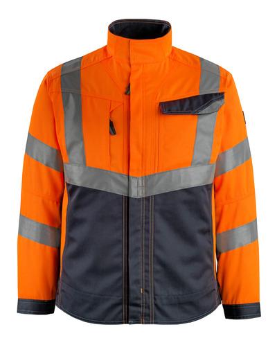 MASCOT® Oxford - pomarańcz hi-vis/ciemny granat - Kurtka, wysoka odporność na zużycie, klasa 2