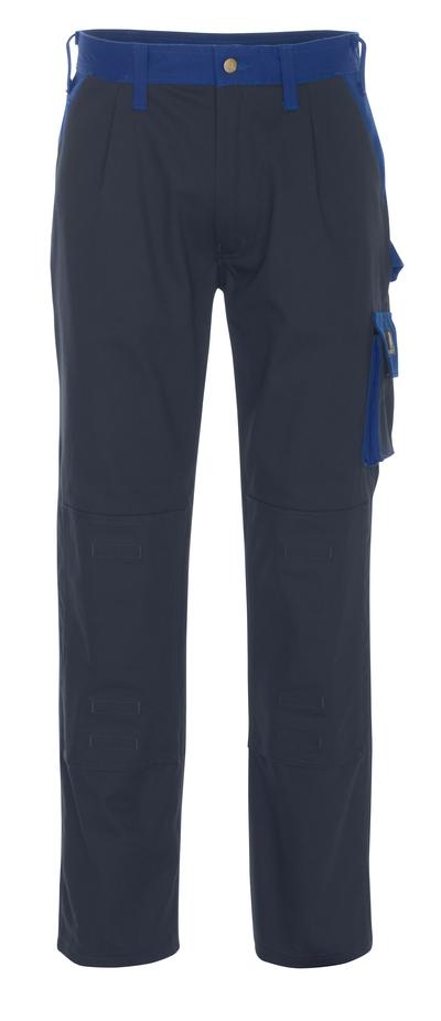 MASCOT® Palermo - granat/niebieski - Spodnie z kieszeniami na kolanach, bawełna