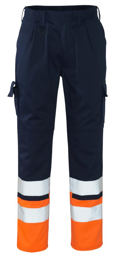 MASCOT® Patos - granat/pomarańcz hi-vis  - Spodnie z kieszeniami na kolanach, klasa 1
