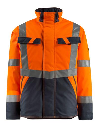 MASCOT® Penrith - pomarańcz hi-vis/ciemny granat - Kurtka zimowa z pikowaną podszewką, wodoodporna tkanina, klasa 3