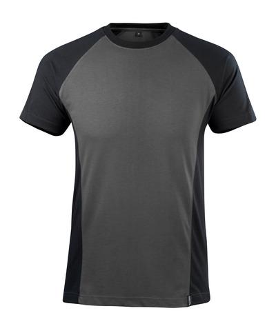 MASCOT® Potsdam - ciemny antracyt/czerń - T-Shirt