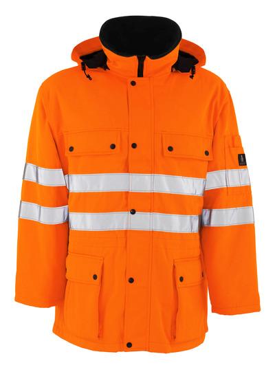 MASCOT® Quebec - pomarańcz hi-vis  - Parka z pikowaną podszewką, wodoodporna tkanina, klasa 3/2