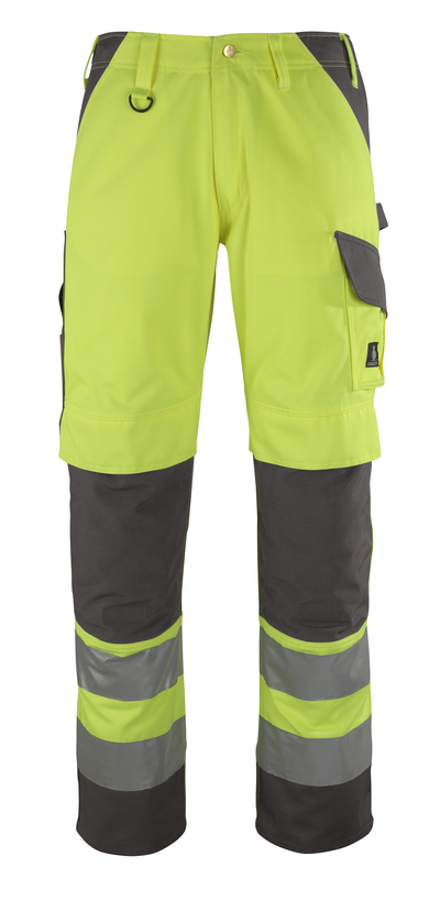 MASCOT® Redondo - żółty hi-vis/antracyt* - Spodnie z kieszeniami na kolanach