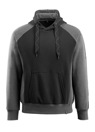 MASCOT® Regensburg - czerń/ciemny antracyt - Bluza z kapturem, nowoczesny krój