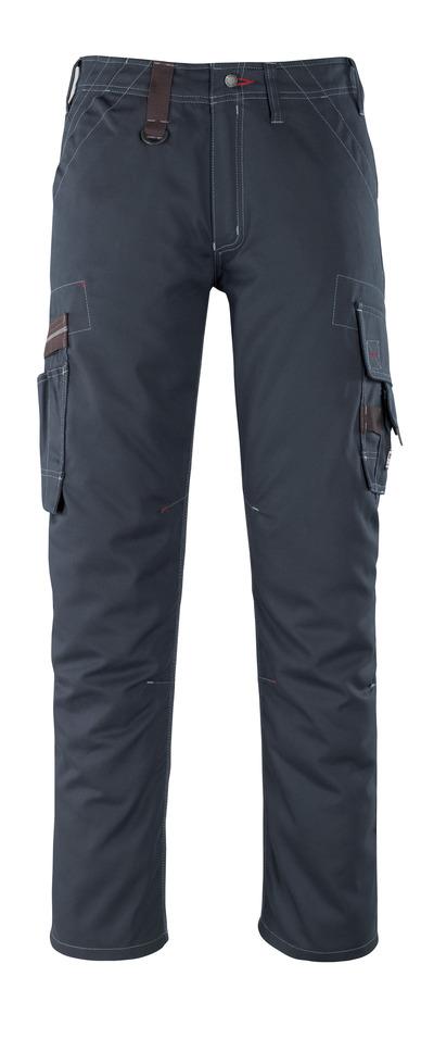 MASCOT® Rhodos - ciemny granat - Spodnie z kieszeniami na udach, niska waga