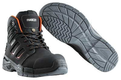 MASCOT® Rimo - czerń/ciemny pomarańcz - Trzewiki S3 ze sznurowadłami