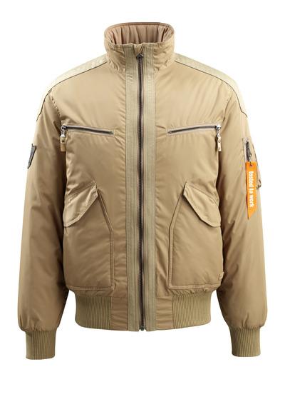 MASCOT® Riverdale - khaki - Kurtka pilotka z pikowaną podszewką, wodoodporna tkanina