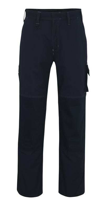 MASCOT® Riverside - ciemny granat - Spodnie z kieszeniami na kolanach, wysoka odporność na zużycie