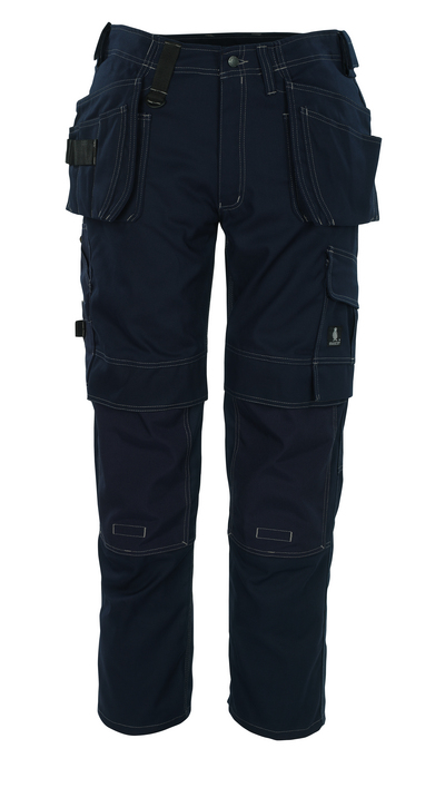 MASCOT® Ronda - granat - Spodnie z kieszeniami CORDURA® na kolanach i kieszeniami wiszącymi, wysoka odporność na zużycie