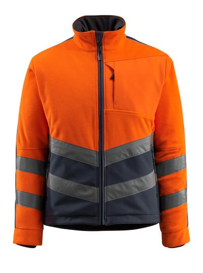 MASCOT® Sheffield - pomarańcz hi-vis/ciemny granat - Kurtka polarowa z watowaną, wiatroszczelną podszewką, wodoodporna tkanina, klasa 2