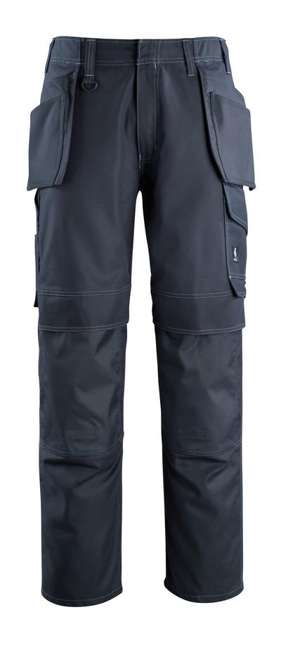 MASCOT® Springfield - ciemny granat - Spodnie z kieszeniami na kolanach i kieszeniami wiszącymi, niska waga