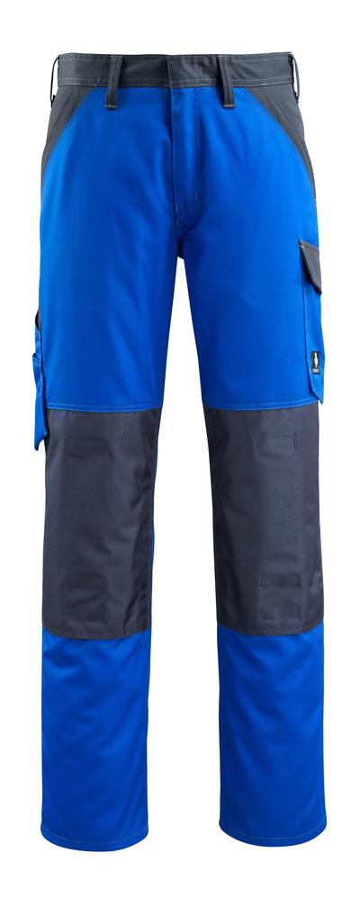 MASCOT® Temora - niebieski/ciemny granat - Spodnie z kieszeniami na kolanach, niska waga