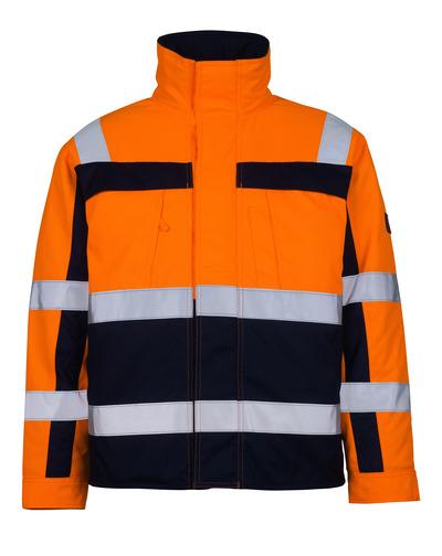MASCOT® Timon - pomarańcz hi-vis/granat* - Kurtka pilotka z pikowaną podszewką, klasa 3