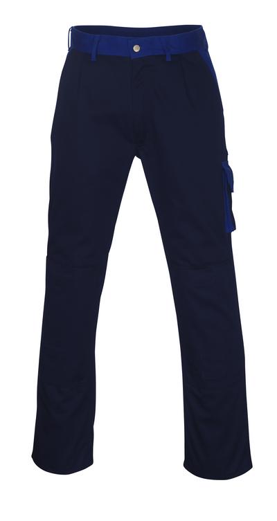 MASCOT® Torino - granat/niebieski - Spodnie z kieszeniami na kolanach, wysoka odporność na zużycie