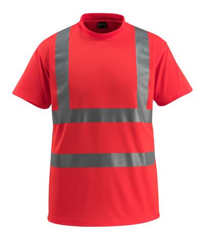 MASCOT® Townsville - czerwień hi-vis - T-Shirt, klasyczny krój, klasa 2