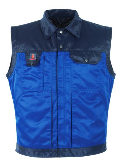 MASCOT® Trento - niebieski/granat - Kamizelka zimowa z pikowaną kamizelką wewnętrzną, wodoodporna tkanina