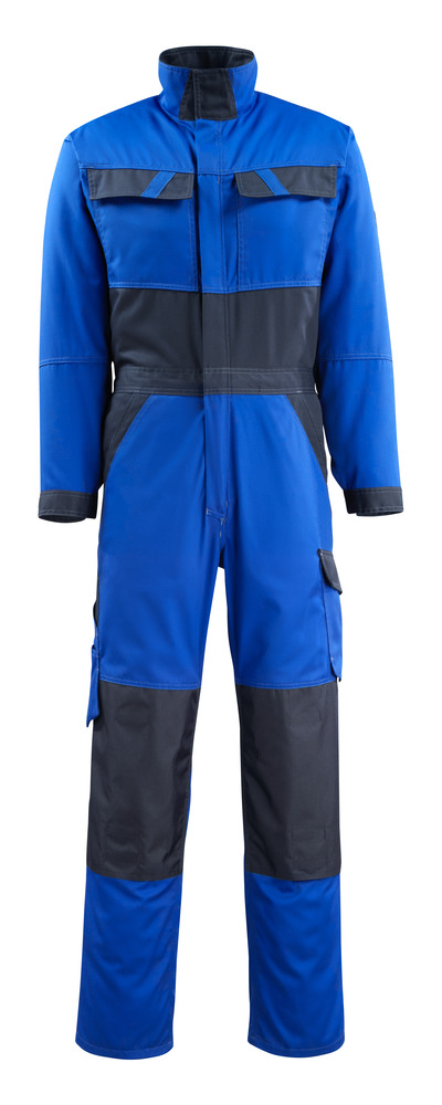 MASCOT® Wallan - niebieski/ciemny granat - Kombinezon z kieszeniami na kolanach, niska waga