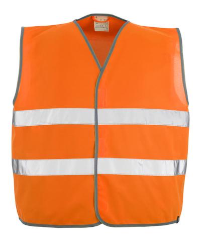 MASCOT® Weyburn - pomarańcz hi-vis  - Kamizelka ostrzegawcza z zapięciem na rzepy, klasa 2