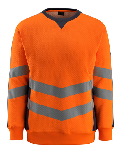 MASCOT® Wigton - pomarańcz hi-vis/ciemny granat - Bluza, nowoczesny krój, klasa 3