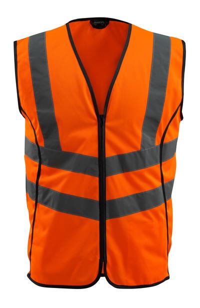 MASCOT® Wingate - pomarańcz hi-vis  - Kamizelka ostrzegawcza z zamkiem błyskawicznym, klasa 2