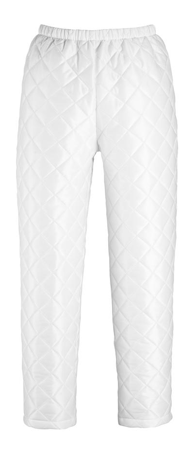 MASCOT® Winnipeg - biel - Spodnie termalne z regulacją przy stopie