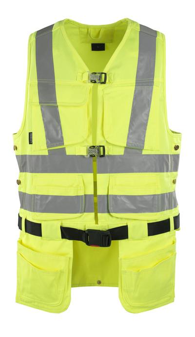 MASCOT® Yorkton - żółty hi-vis - Kamizelka z czterema wiszącymi kieszeniami na narzędzia, klasa 2/2